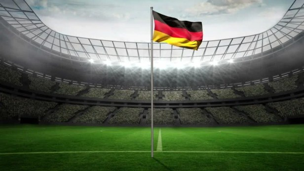 Germany National Flag Waving On Stock Footage Video (100% Royalty ...