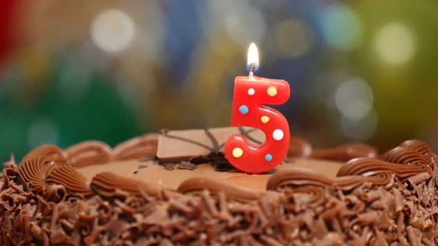 Candles On a Cake are Stock Footage Video (100% Royalty-free ...