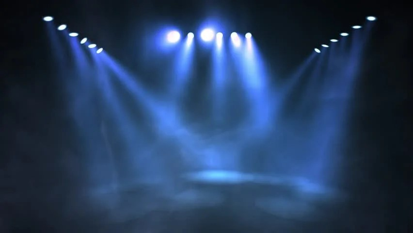 Stage Lights Shining At Studio Stock Footage Video 100