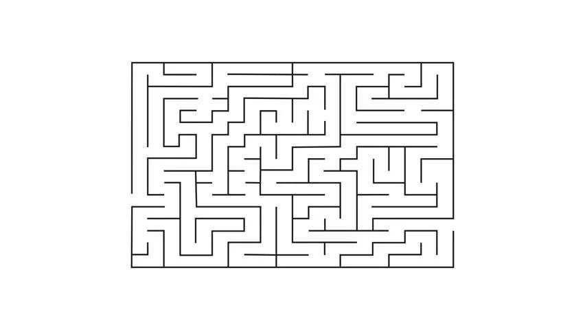 Maze 4k Animation Labyrinth Challenge Stock Footage Video