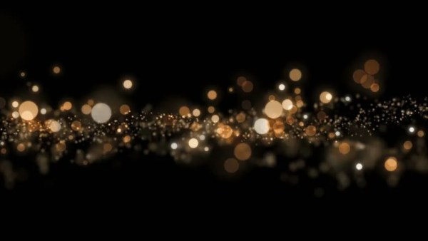 space gold background with particles
