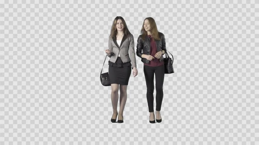 Two Beautiful Girls in Business Stock Footage Video (100%