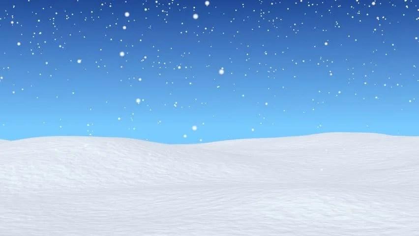 Cartoon Fall Wallpaper White Snowy Field Bright Winter Blue Sky And Beginning Of