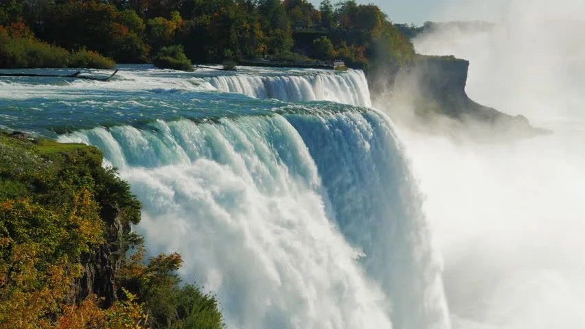 Free Fall Facebook Wallpaper The Famous Waterfall Niagara Falls Stock Footage Video