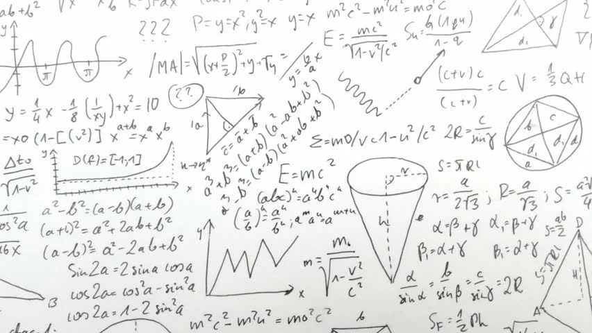 A Black Board Is Full Of Chemistry Equations Stock Footage