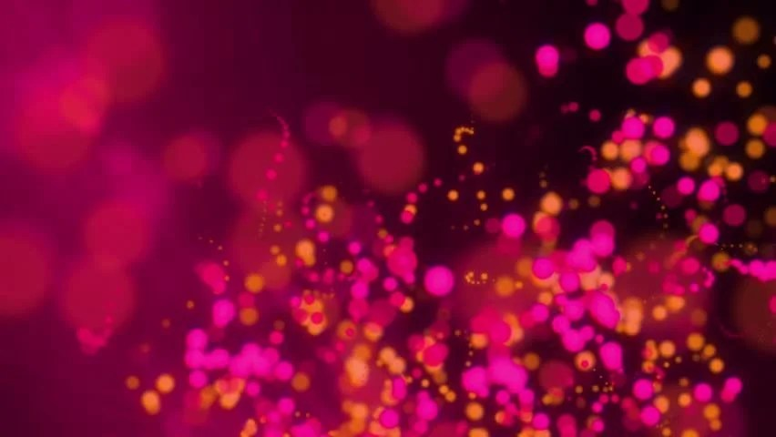 Purple Falling Circles Wallpaper Stock Video Of Hot Pink And Orange Twinkling Bokeh