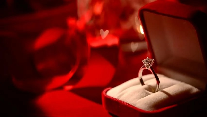 Diamond Ring Valentines Day Gift Marriage Proposal