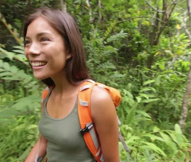 Hiking Woman Hiker Walking Stock Footage Video 100 Royalty Free 7412560 Shutterstock