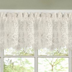 Kitchen Curtians Tables With Storage Shop Luxurious Old World Style Lace Curtains Tiers And Valances In Cream On Sale Free Shipping Orders Over 45 Overstock Com 10050988