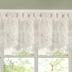 Curtains Kitchen Decorative Tiles For Luxurious Old World Style Lace Tiers And Valances In Cream Shop On Sale Free Shipping Orders Over 45 Overstock Com 10050988