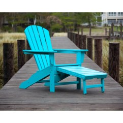 Polywood Adirondack Chairs Aeron Chair Herman Miller Manual Shop Palm Coast Outdoor Ultimate With Hideaway Ottoman Free Shipping Today Overstock Com 10088657