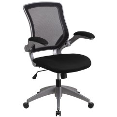Mesh Task Chair Chairs Parts And Accessories Shop Mid Back With Flip Up Arms Free Shipping Today Overstock Com 10125378