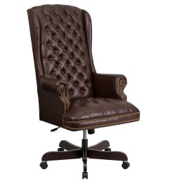 high back traditional tufted leather executive office chair [ 3000 x 3000 Pixel ]
