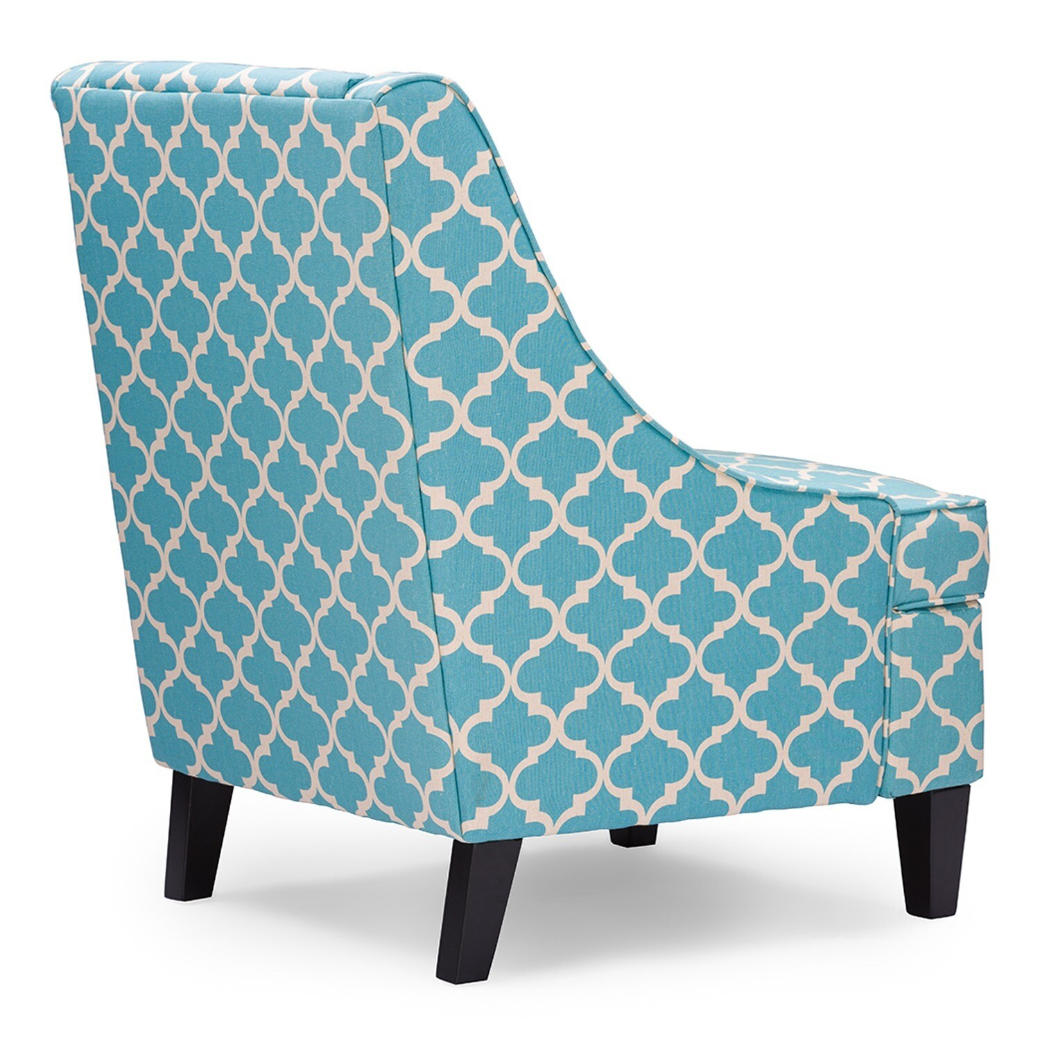 Blue Patterned Chair Asplin Contemporary Blue Patterned Fabric Upholstered Armchair