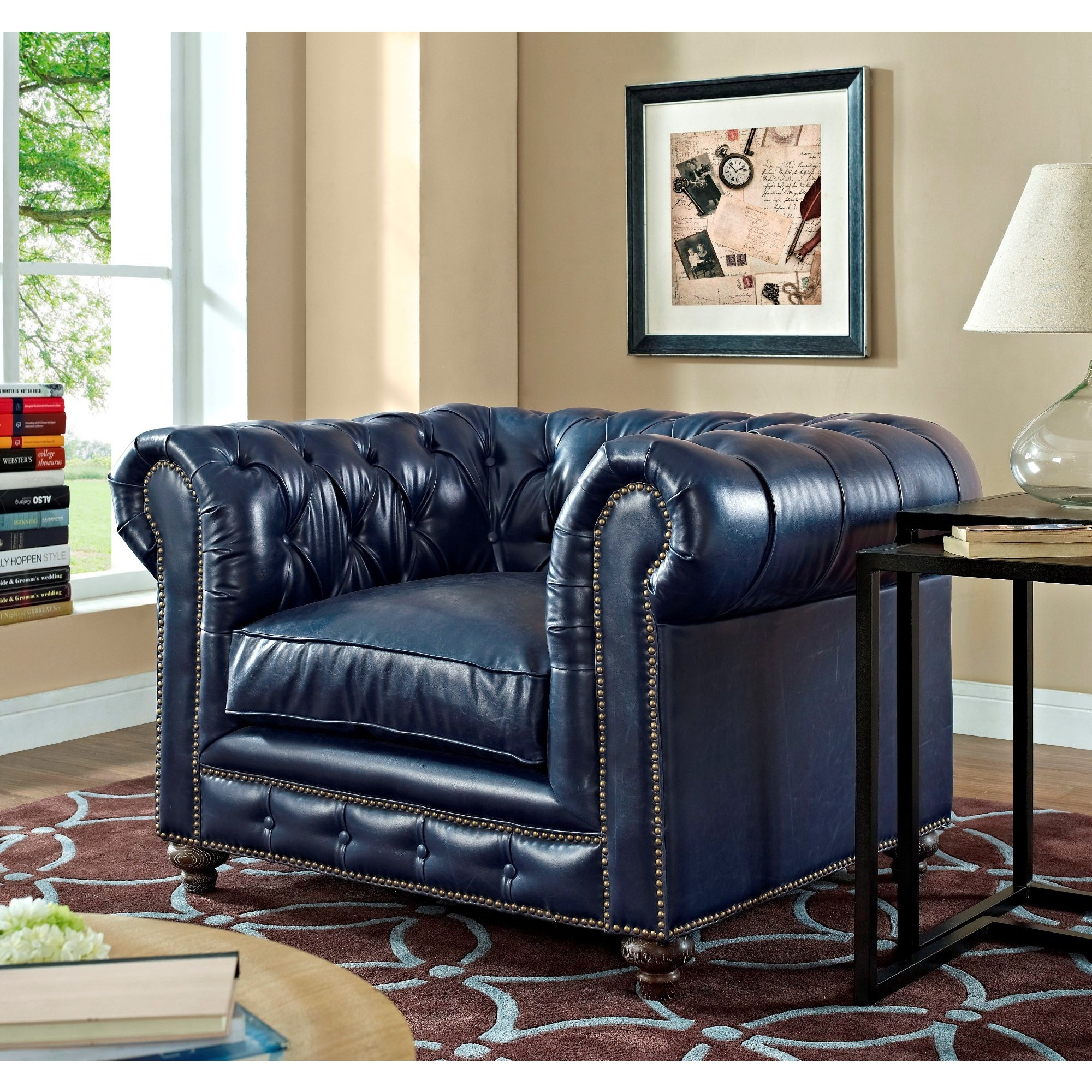 blue leather living room sets wall panels shop durango rustic set free shipping today overstock com 10156789