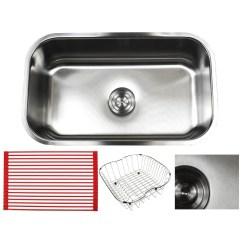 Undermount Single Bowl Kitchen Sink Stove Gas Shop Ariel Pearl Sharp Satin 30 Inch Premium 16 Gauge Stainless Steel Accessories Kit