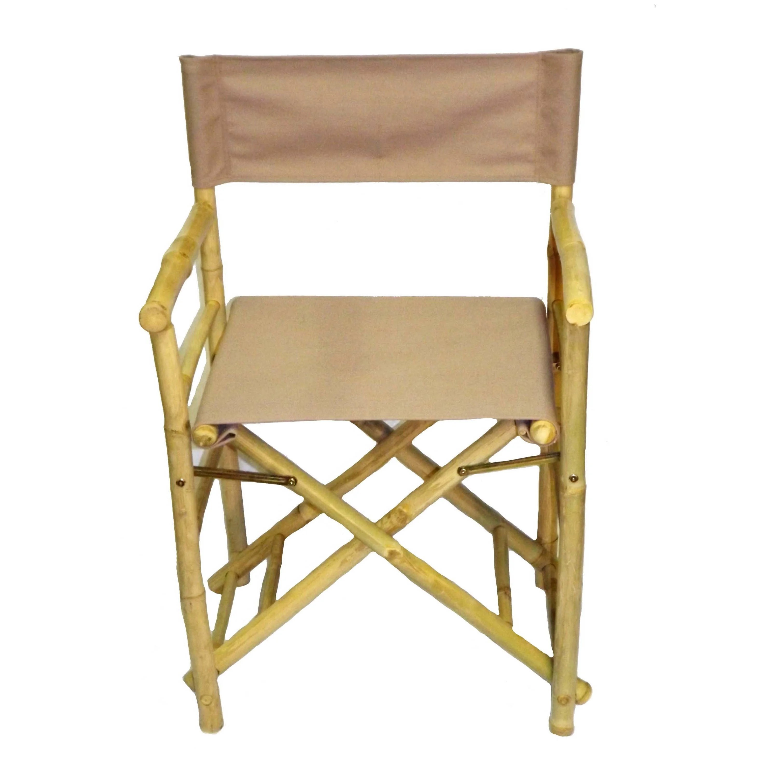 bamboo directors chairs outdoor chair cusions shop handmade set of 2 director s with blue canvas vietnam free shipping today overstock com 10171770