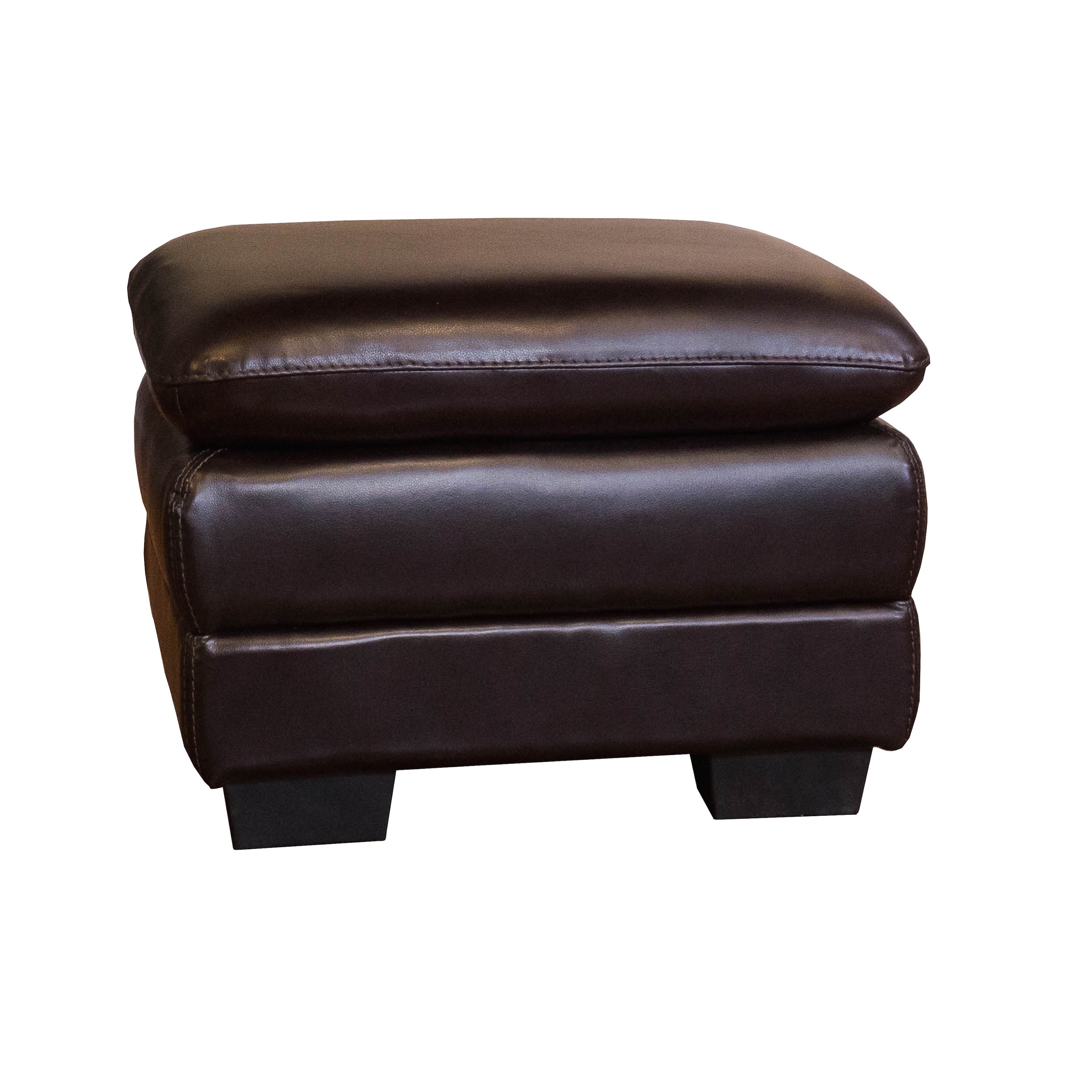 oversized leather chair and ottoman sets stools height shop chocolate set free shipping today overstock com 10199202