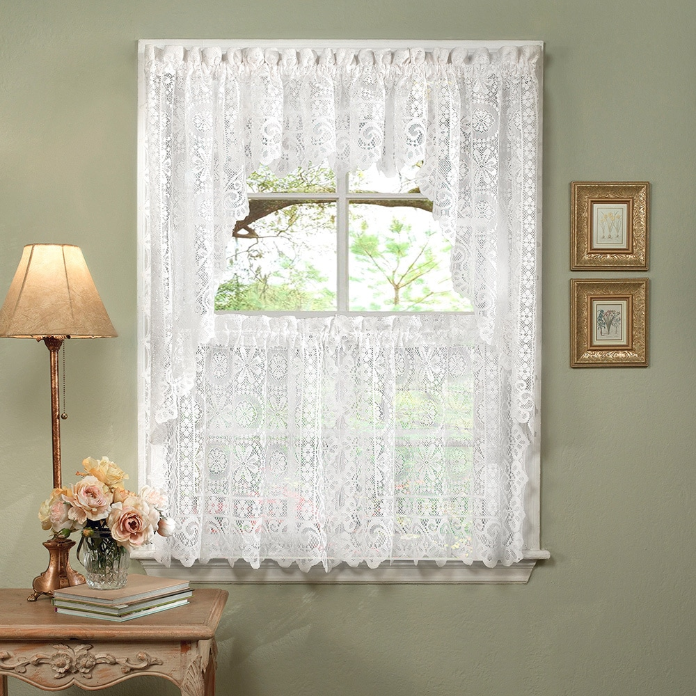 curtains kitchen ideas with island white lace luxurious old world style tiers shade or valances