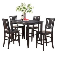 High Table And Chairs For Kitchen Vintage Barrel Shop Black Counter Height 4 5 Piece Dining Set Free Shipping Today Overstock Com 10201081