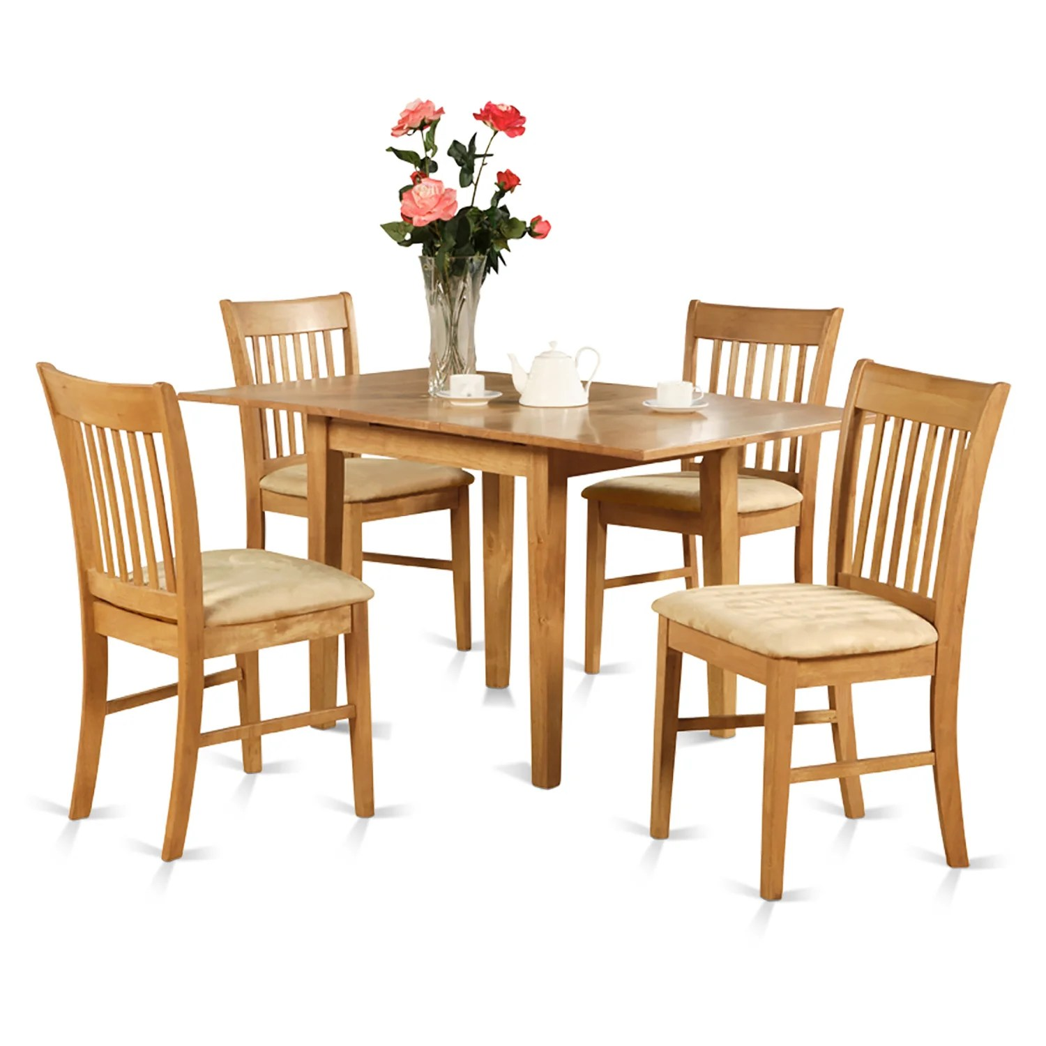oak kitchen table sets delta chrome faucet shop dinette with 12 inch leaf and 6 chairs 7 piece dining set free shipping today overstock com 10201182