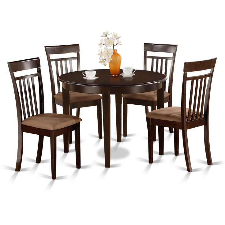 shop small round 5-piece kitchen table and 4 dining chairs - free