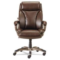 Alera Office Chairs High Chair Prices Shop Veon Series Brown Executive Back Leather W Coil Spring Cushioning