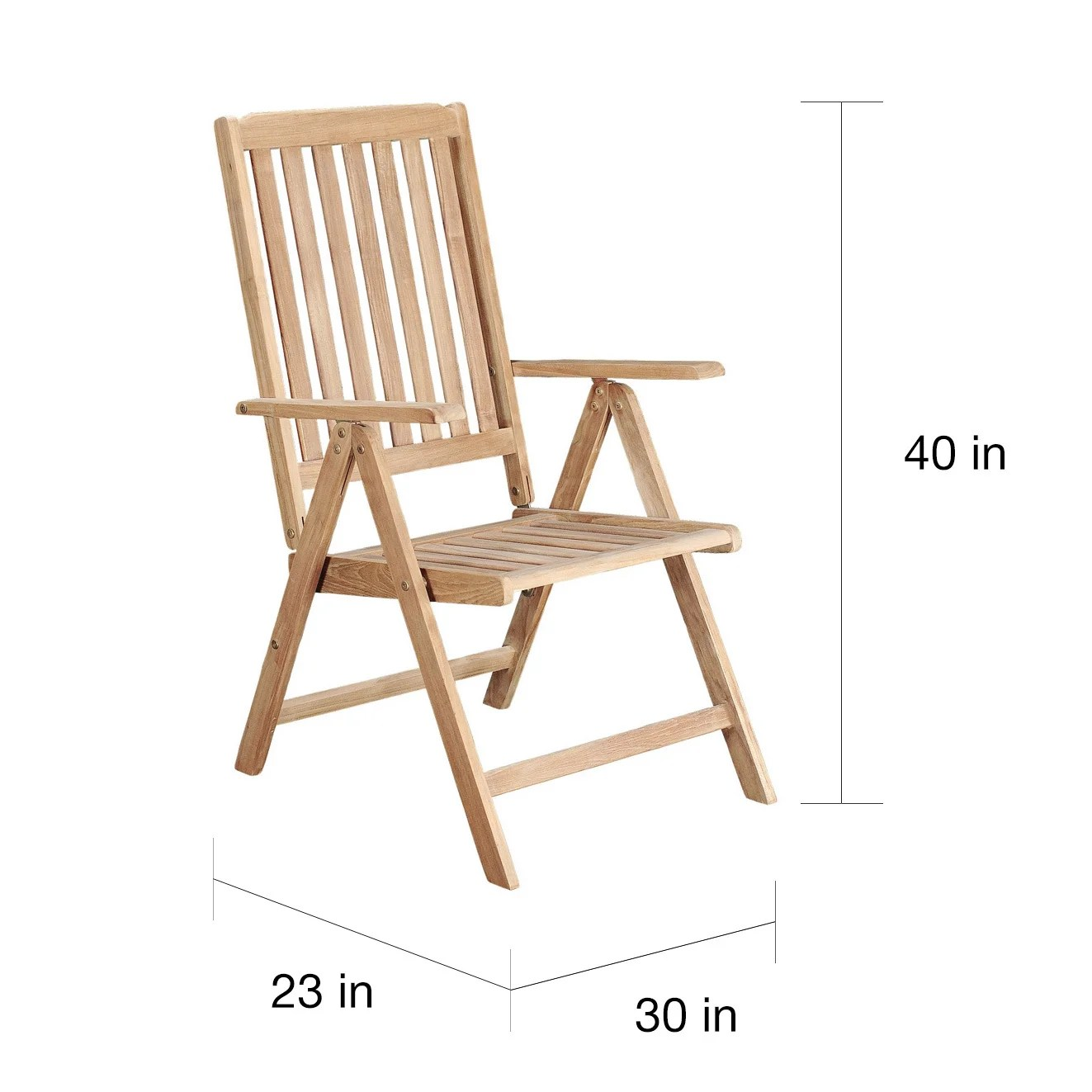 recliner patio chair nursery with ottoman shop riviera teak reclining free shipping today overstock com 10325749