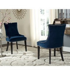 safavieh dining lester navy dining chairs set of 2  [ 3000 x 3000 Pixel ]