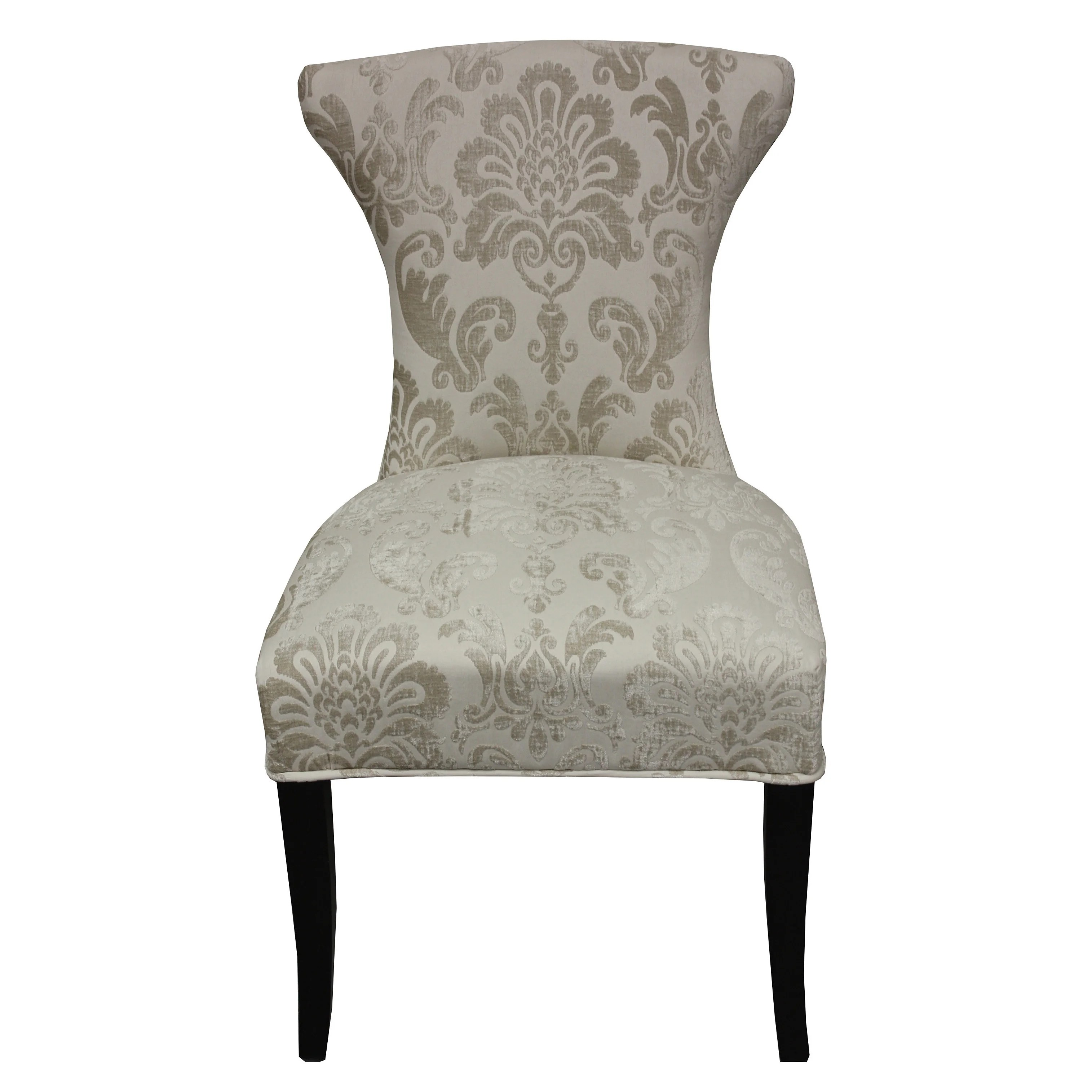 Damask Dining Chair Cosmo Cream Fan Damask Dining Chair Set Of 2