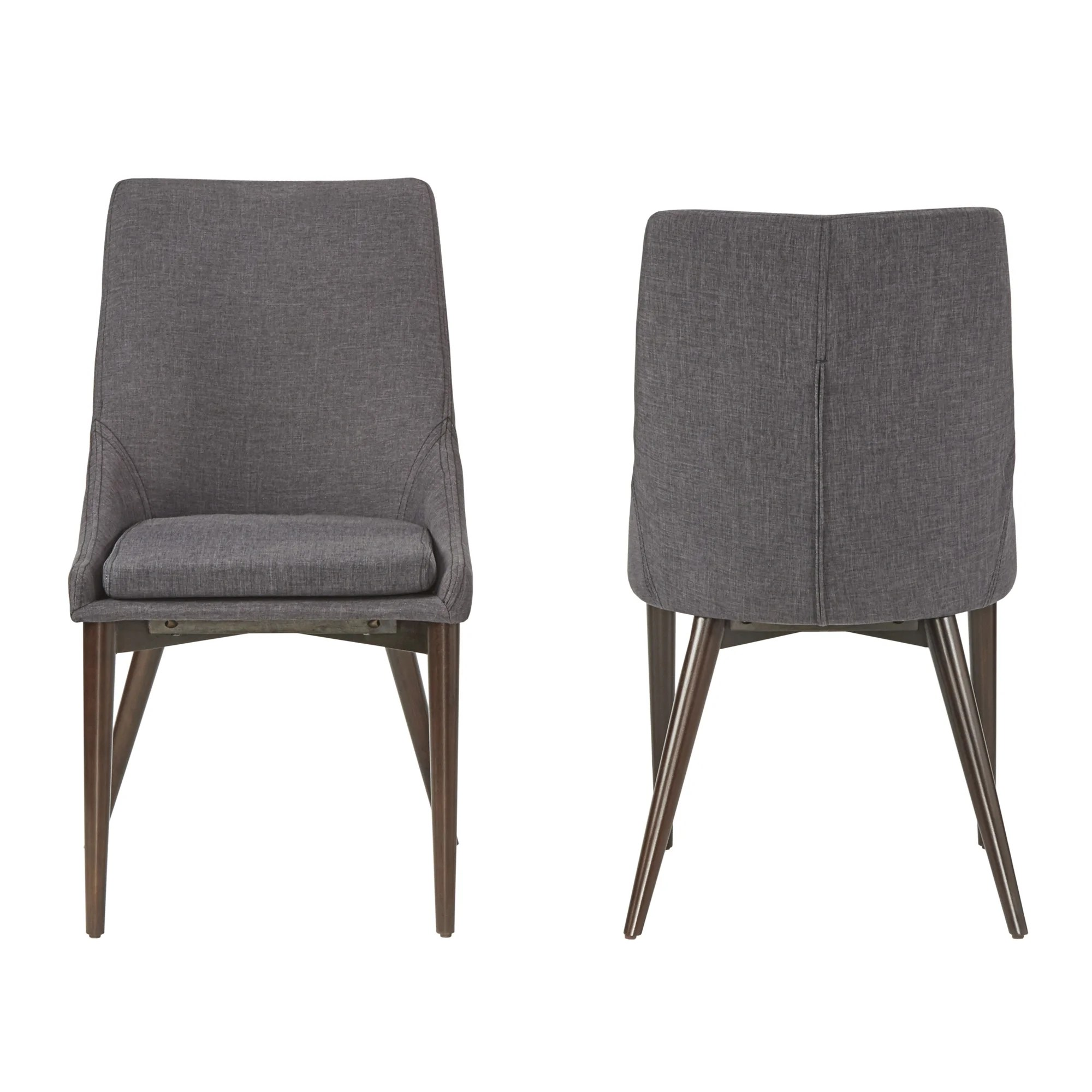 modern gray dining chairs webbing for lawn shop sasha mid century barrel back set of 2 by inspire q on sale free shipping today overstock com 10390630