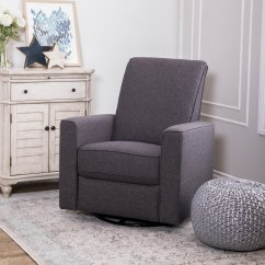 Glider Recliner Chair Help Stand Up Shop Abbyson Hampton Grey Nursery Swivel On