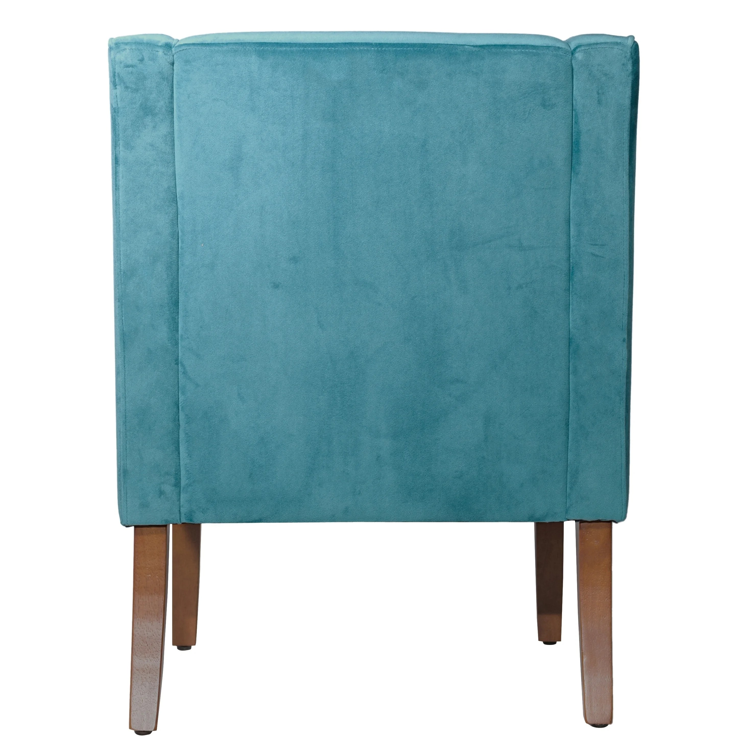 turquoise accent chairs jet 3 power chair shop homepop swoop arm in teal velvet on sale free shipping today overstock com 10508062
