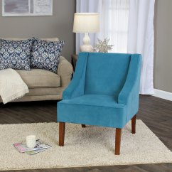 Teal Accent Chair Wedding Covers Middlesbrough Shop Homepop Swoop Arm In Turquoise Velvet On