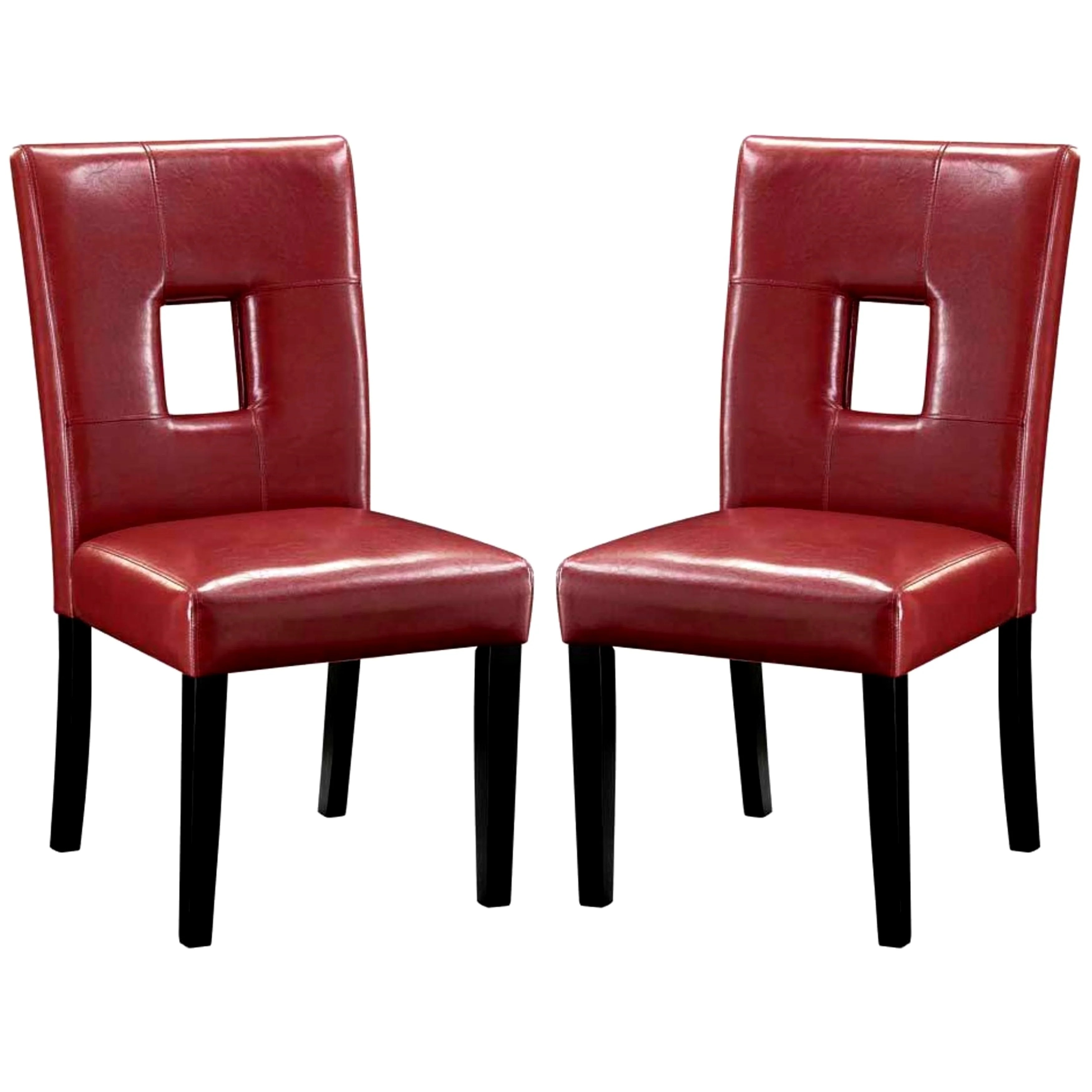 Red Upholstered Dining Chairs Epcot Open Back Red Upholstered Dining Chairs Set Of 2