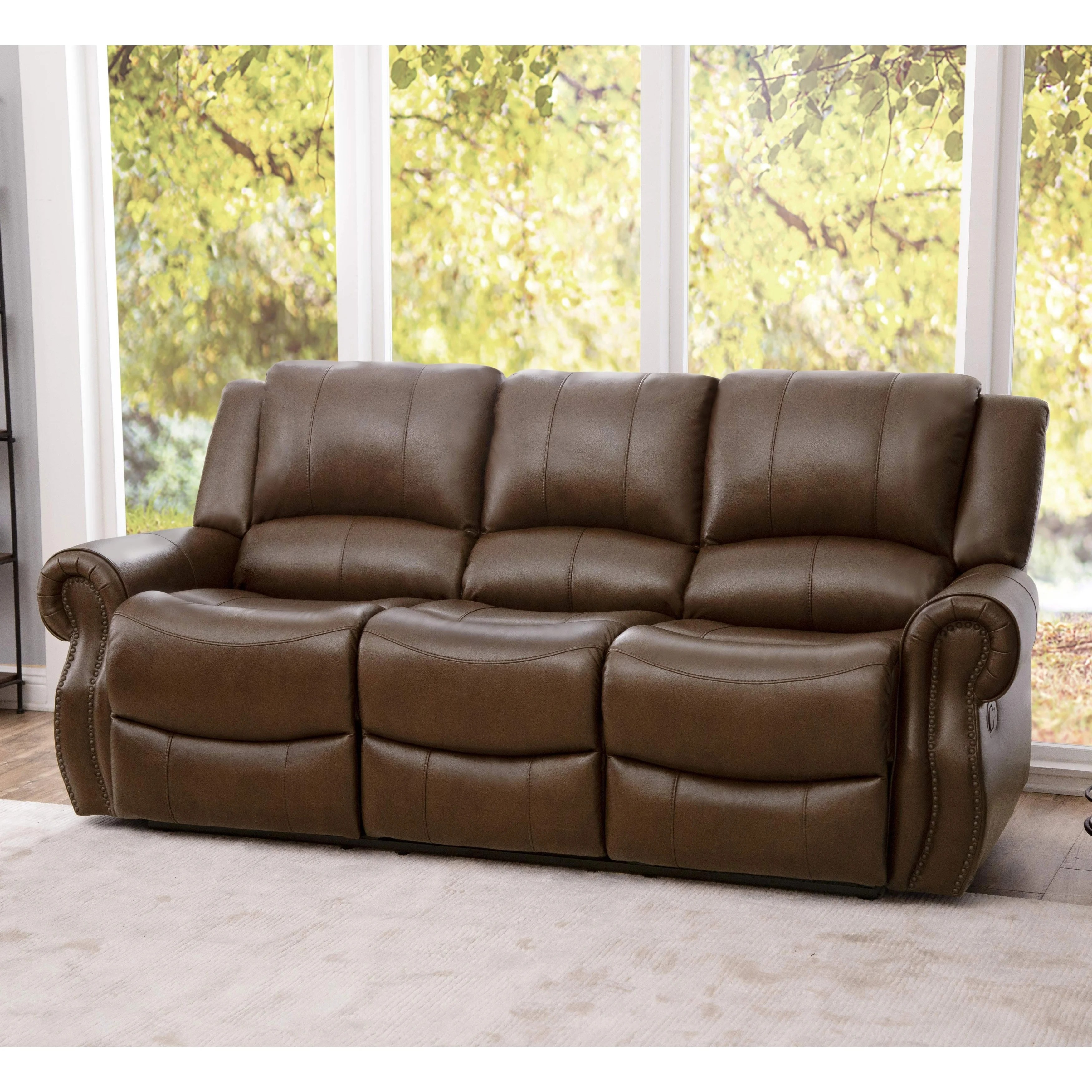 recliner living room set family decor ideas shop abbyson calabasas mesa brown leather 3 piece reclining on sale free shipping today overstock com 10555965