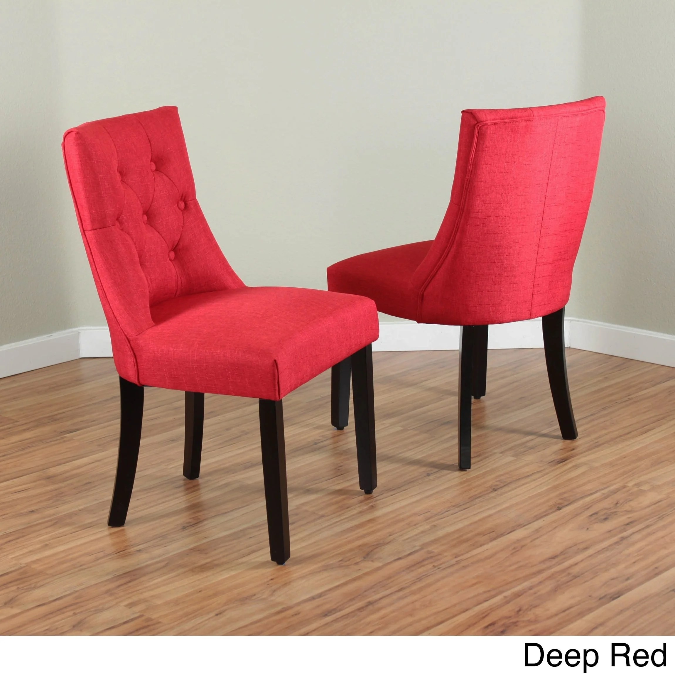 red tufted dining chair golden lift chairs canada shop bellcrest upholstered set of 2 free shipping