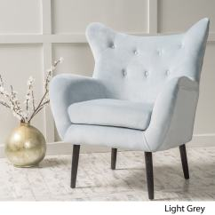 Light Grey Chair How Much To Rent Covers For Wedding Shop Alyssa Velvet Arm Mid Century Style By Christopher Knight Home Free Shipping Today Overstock Com 10773790