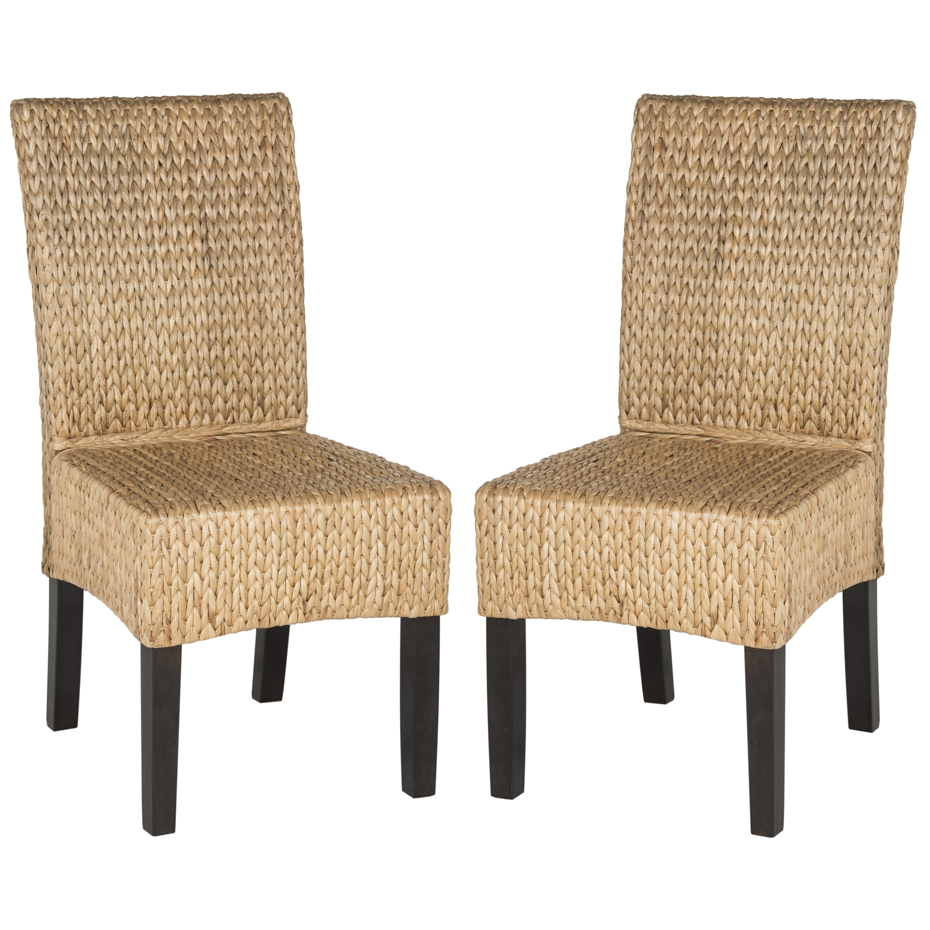Woven Dining Chair Safavieh Rural Woven Dining Luz Natural Dining Chairs Set Of 2