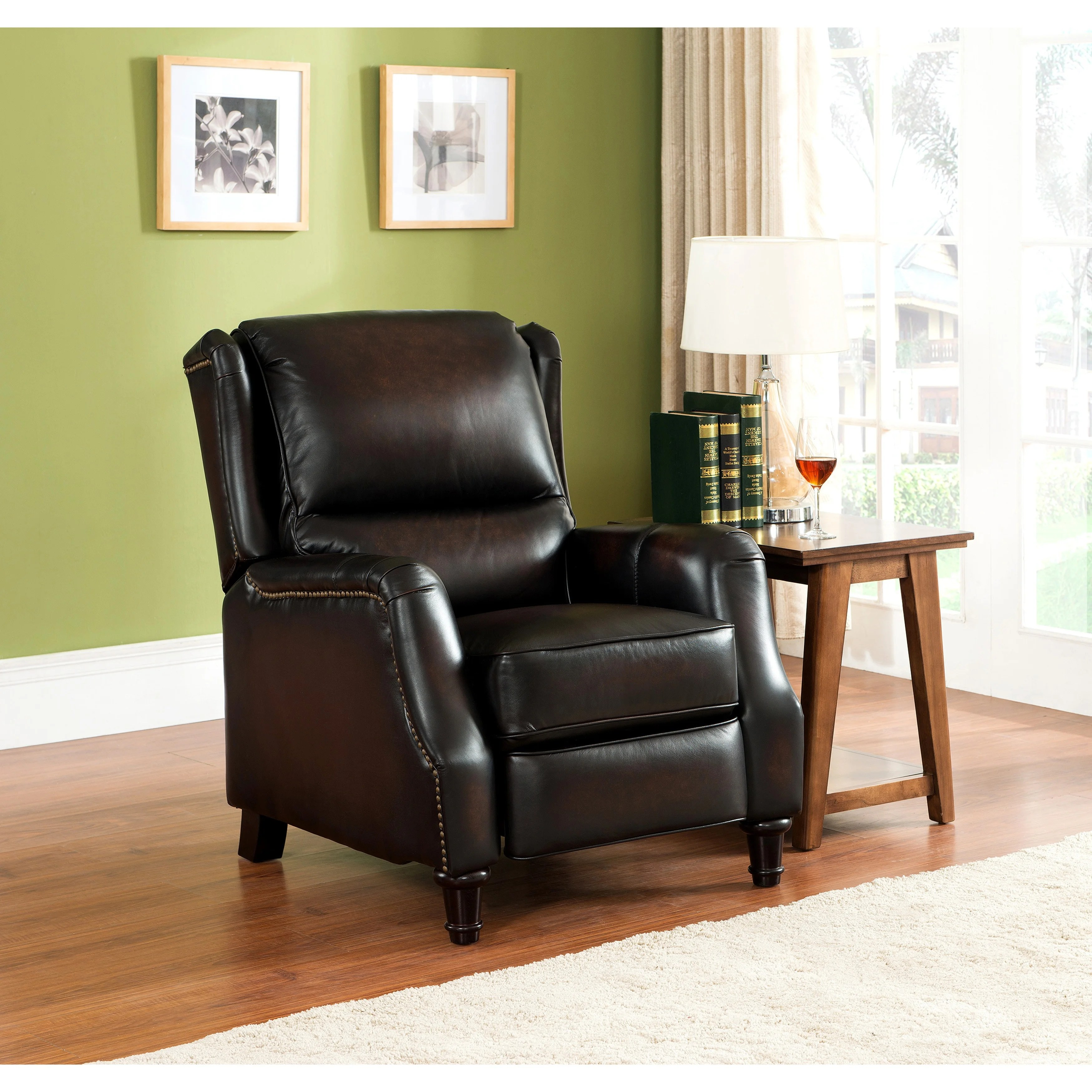 Wingback Recliner Chair Liberty Wingback Brown Red Hand Rubbed Premium Top Grain Leather Recliner Chair
