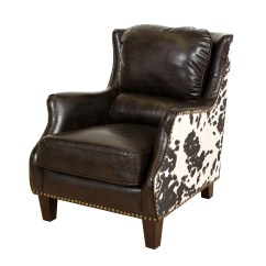 Cow Print Chair Bedroom Covers Shop Porter Wrangler Espresso And Bonded Leather Accent