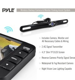 shop pyle plcm4375wir rear view back up camera and parking reverse assist system with 4 3 inch display free shipping today overstock 10884793 [ 1000 x 1000 Pixel ]