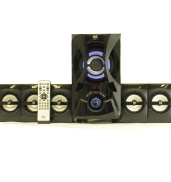 shop blue octave b53 home theater 5 1 bluetooth speaker system 800w with powered sub and fm tuner free shipping today overstock com 10899611 [ 1000 x 1000 Pixel ]