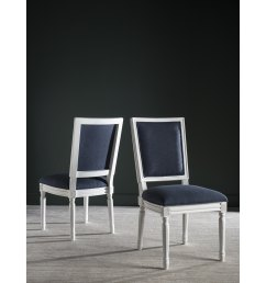 safavieh dining old world buchanan navy rectangular dining chairs set of 2  [ 3000 x 3000 Pixel ]