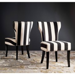 Striped Dining Chair Gym Manufacturer Shop Haver Black And Beige Chairs Set Of 2 On