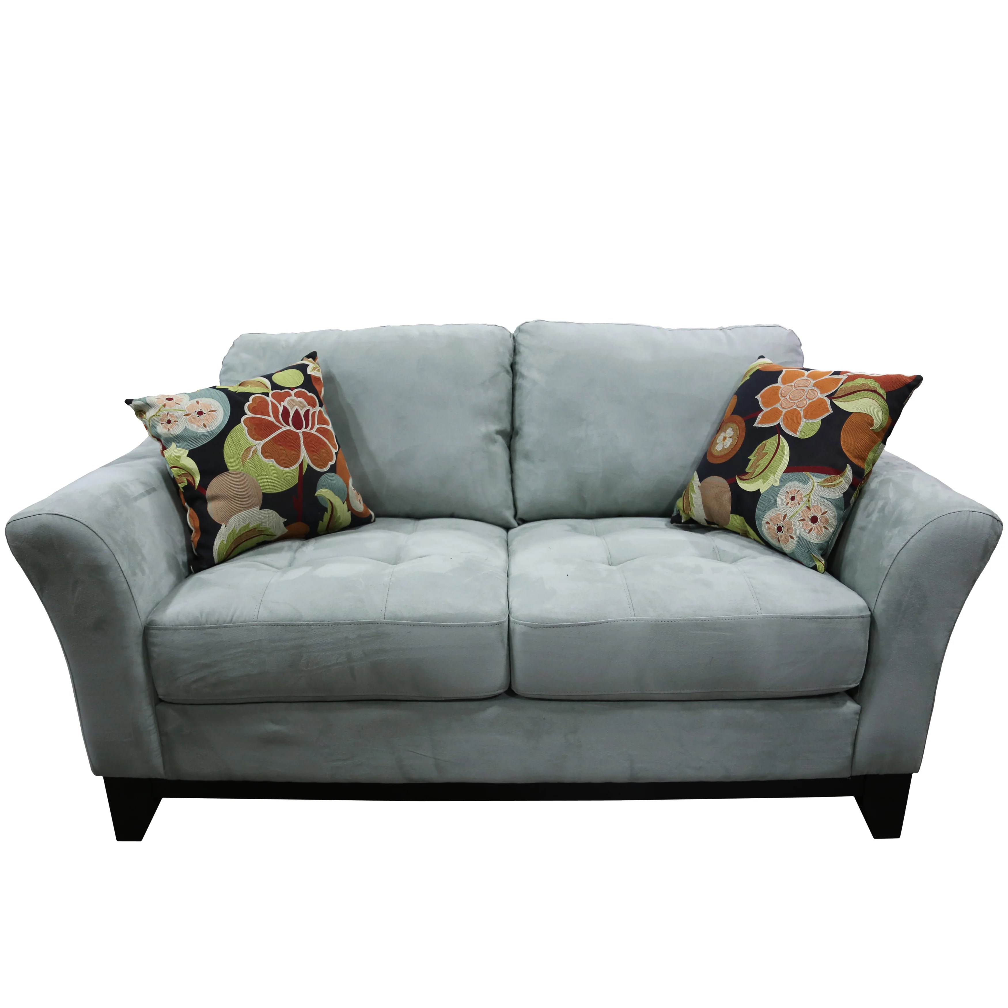 closeout living room furniture rustic design shop porter avalon powder blue sofa loveseat set with woven floral accent pillows free shipping today overstock com 11324438