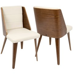 Mid Century Modern Leather Accent Chair Fold Away Table And Chairs Shop Galanti Faux Dining Set Of 2