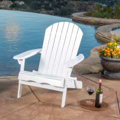 Adirondack Chair Wood Straight Back Covers Shop Hanlee Outdoor Folding By Christopher Knight Home