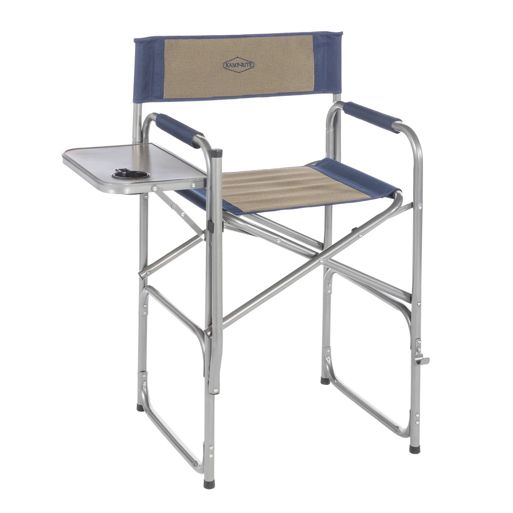 Folding Directors Chair With Side Table Kamp Rite High Back Director S Chair With Side Table
