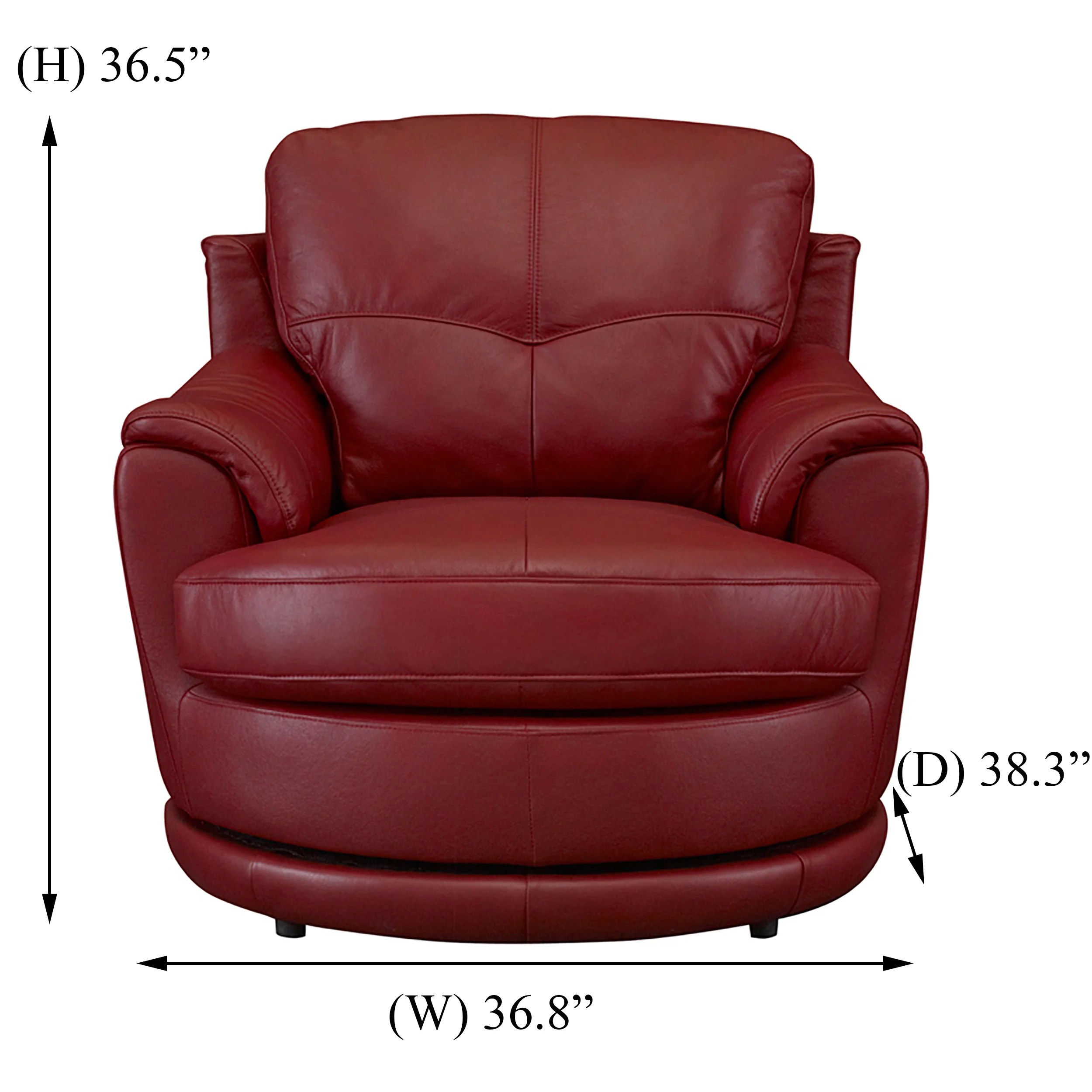 Red Leather Swivel Chair Somette Dorena Red Leather Swivel Chair